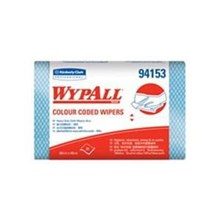 Kimberly Clark 94153 Wypall Color Code Wipers Heavy Duty Blue