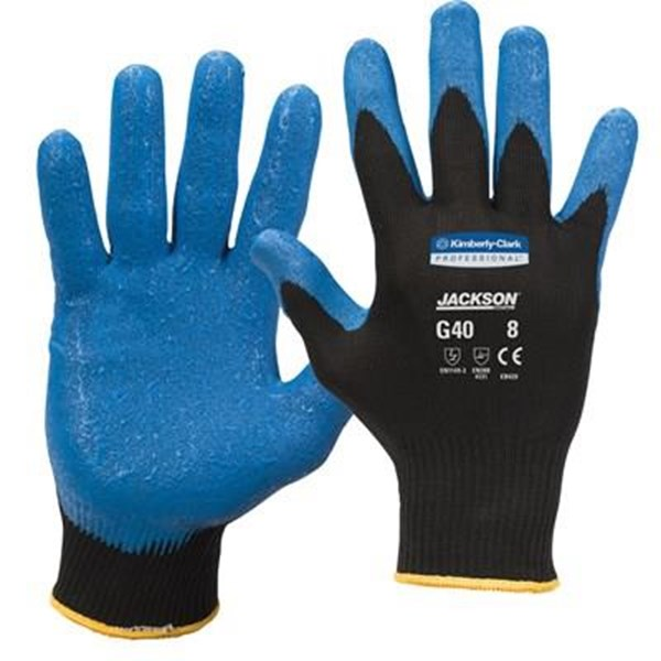 Kimberly Clark 40226 Jackson G40 Nitrile Foam Coated Gloves Size M