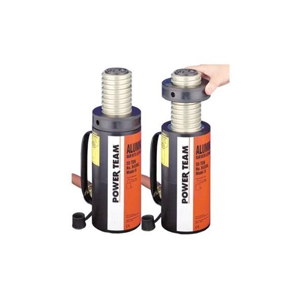 Power Team Hydraulic Cylinders Single Acting Locking Collar Aluminum RA556L