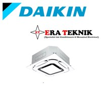 Ac Cassette Daikin Inverter 4PK 3Phase Wired Standart Panel Putih
