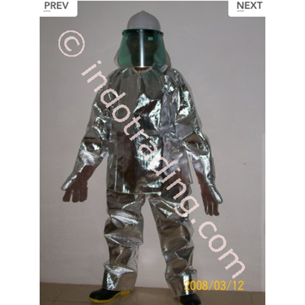 Baju Safety Pemadam Alluminised Tempex