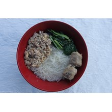 Rice Noodle Chicken Meatballs