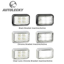 LED LIGHTS LED AUTOLAMPS 32-35WM LED FRONT MARKER LIGHT IND 12-24V BLK CLR