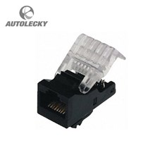 Aksesoris Mobil TE CONNECTIVITY 364-6384 CONNECTOR MODULAR RJ45 FEMALE CAT5E UTP DATACOMMS