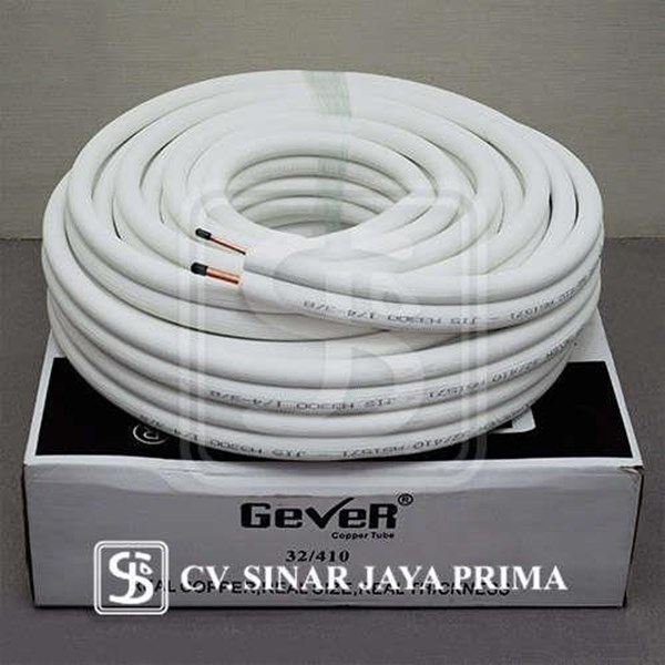 Pipa AC Gever 1/4 - 3/8 1PK panjang 30 meter