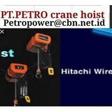 SINGLE PHASE HITACHI PT PETRO POWER CRANE HOIST HITACHI