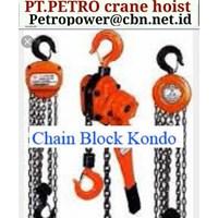 Jual KONDO CHAIN BLOCK PT PETRO CHAIN CRANE HOIST