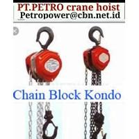 Jual KONDO CHAIN BLOCKS PT PETRO CHAIN CRANE HOIST KONDO