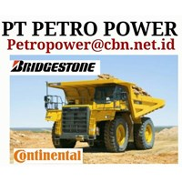 BAN BRIDGESTONE UNTUK DAM TRUCK TRONTON ALAT BERAT PT PETRO POWER