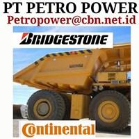 Jual BRIDGESTONE BAN TIRE UNTUK DAM TRUCK TRONTON ALAT BERAT PT PETRO POWER