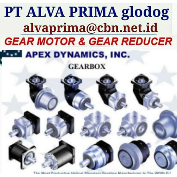APEX DYNAMIC GEARMOTOR REDUCER GEARBOX PT ALVA GLODOK