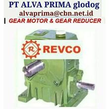 REVCO GEARMOTOR REDUCER GEARBOX PT ALVA GLODOK TYPE WPA WPO WPX
