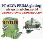 ROTOR AMW GEARMOTOR REDUCER GEARBOX PT ALVA GLODOK TYPE WPA WPO WPX 1