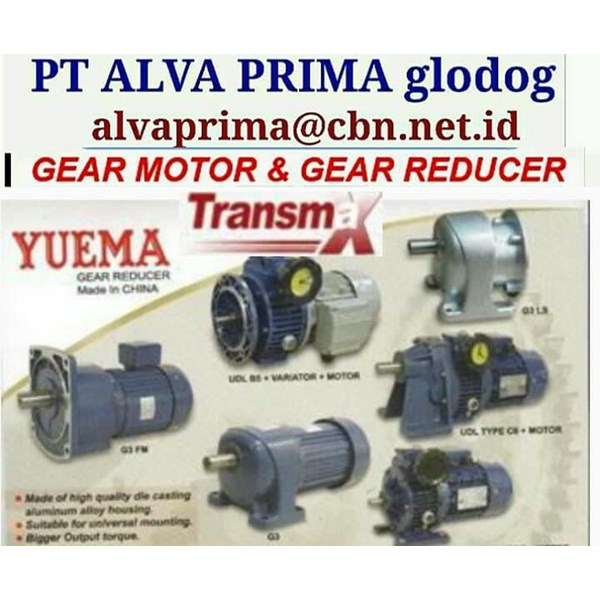 YUEMA GEARMOTOR REDUCER GEARBOX PT ALVA GLODOK YUEMA TRANSMAX