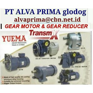 TRANSMAX YUEMA GEARMOTOR REDUCER GEARBOX PT ALVA GLODOK
