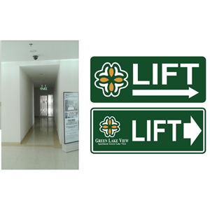 Elevator Directions Sign