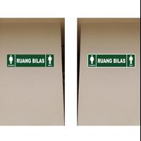 Sign Petunjuk Ruang Bilas