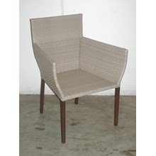 waiting chair of synthetic rattan impasto dac