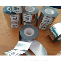 Ribbon Tape Coding Foil Silver