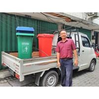 Jual Dustbin Hijau 120 liter No Pedal  2
