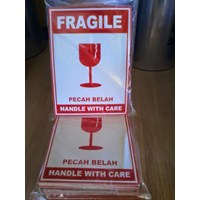 Stiker Fragile / Packaging / Plastik 1