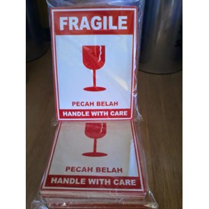 Stiker Fragile / Packaging / Plastik