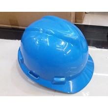 Helm safety proyek warna biru