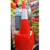 Jual Traffic Cone Rubber 70Cm Base Hitam 2