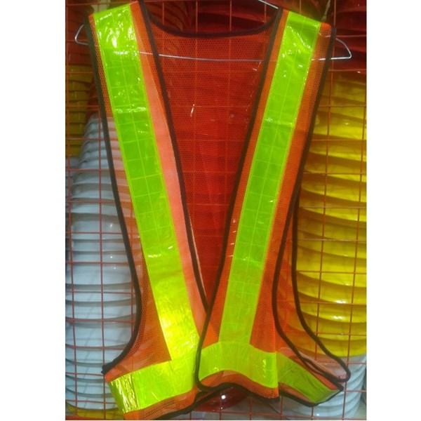 pakaian safety - Rompi Jala  V orange