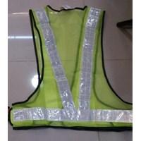 Jual pakaian safety - Rompi jala V hijau