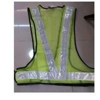 pakaian safety - Rompi jala V hijau