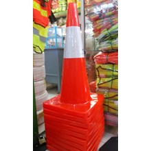 traffic cone rubber 70cm base orange