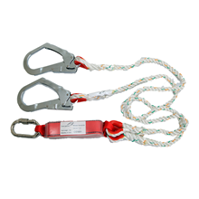 Fall Protection Double Behook Absorber Lanyard LP0125