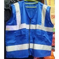 Jual Rompi Safety Bahan drill warna biru