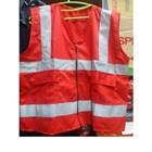 Rompi Safety Bahan drill warna merah 1