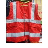 Rompi Safety Bahan drill warna merah