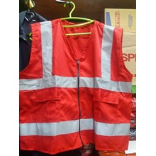Rompi Safety Bahan drill warna merah