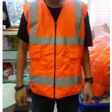 Rompi Bahan Kanvas Waterproof Orange