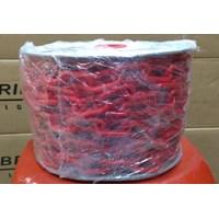 Rantai plastik merah 8mm 1