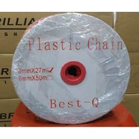 Jual Rantai plastik merah 8mm 2