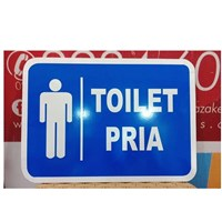 Safety Sign Toilet pria