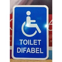Safety Sign Toilet Difabel