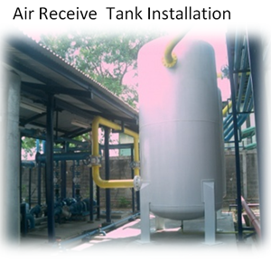 Air Receive Tank Installation By PT. Sakata Utama