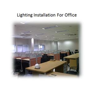 Lighting Installation For Office By PT. Sakata Utama