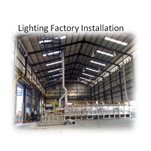 Lighting Factory Installation By PT. Sakata Utama