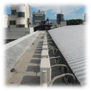 AC Outdoor Unit Installation on the Roof By Sakata Utama