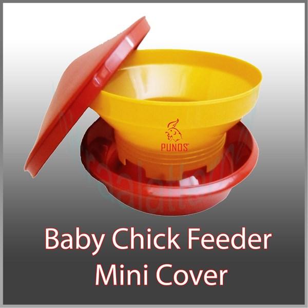 Tempat Pakan Ayam - Baby Chick Feeder Mini Tutup