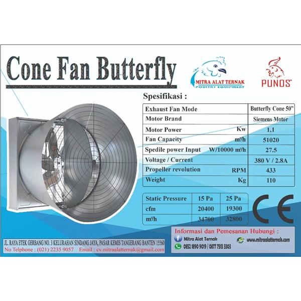 CONE FAN BUTTERFLY 50