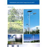 Jual Lampu Solar Cell PJUTS Lithium LifePO4 LED  30 Watt