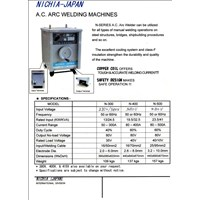 Mesin Las Smaw Ac Transformer Nichia Japan N-300 N-400 1